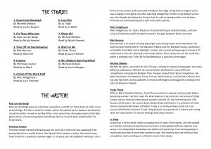 Spooky Stories for Grown Ups programme pages 2 & 3