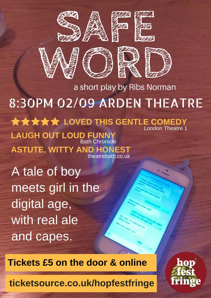 Poster for Safe Word - a play by the Hand of Doom Productions theatre company